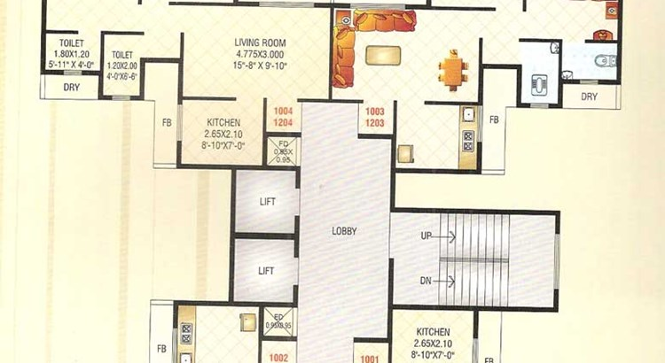 Sai Raj Heights Floor Plan 5