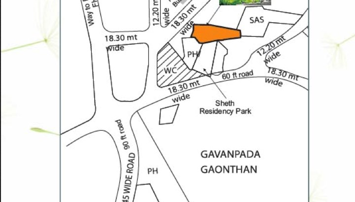 Sheth Garden Location Map