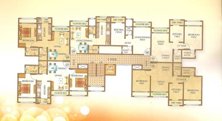 Om Shree Ashtavinayak Complex Floor Plan 1
