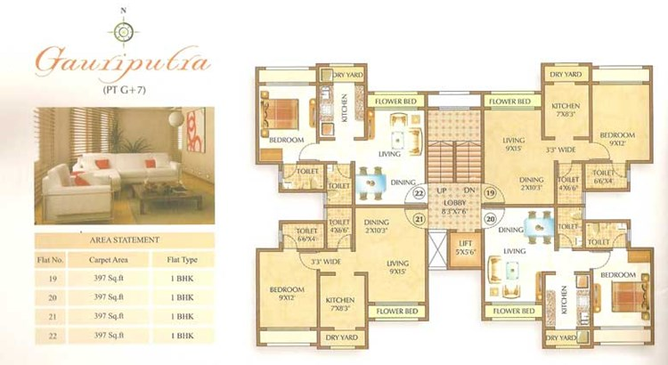 Om Shree Ashtavinayak Complex Floor Plan 2