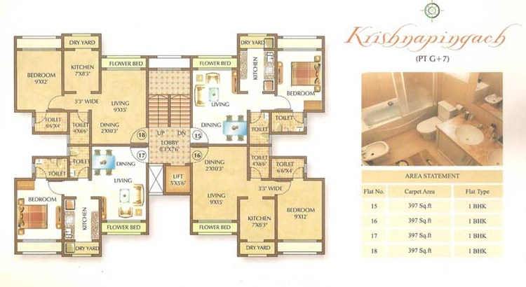 Om Shree Ashtavinayak Complex Floor Plan 3
