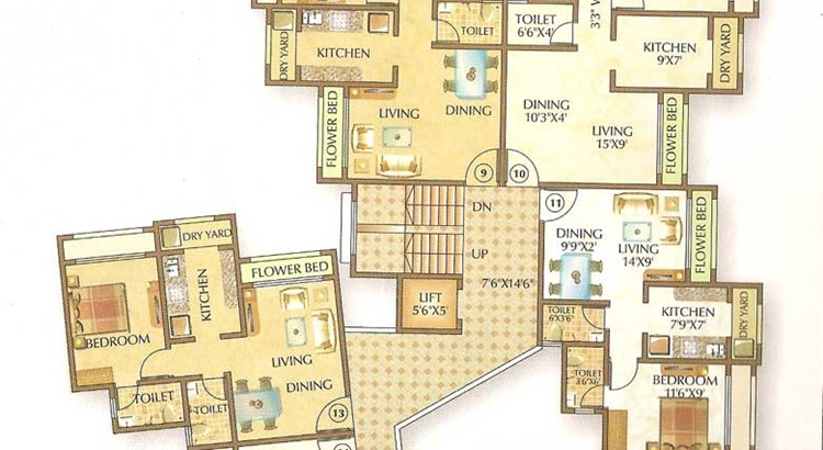Om Shree Ashtavinayak Complex Floor Plan 4