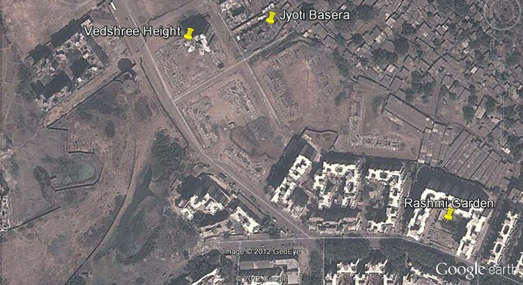 Vedshree Heights Google Earth