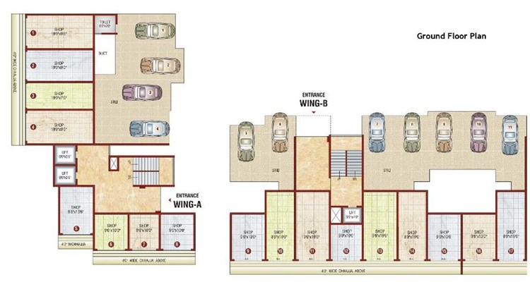 Bhagirathi Galaxy Floor Plan