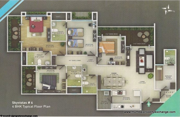 Sky Vistas A Floor Plan 1