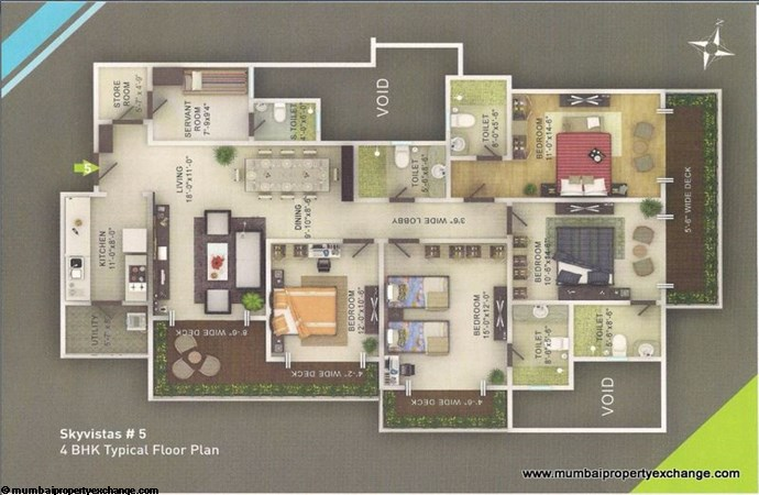 Sky Vistas A wing Floor Plan 2