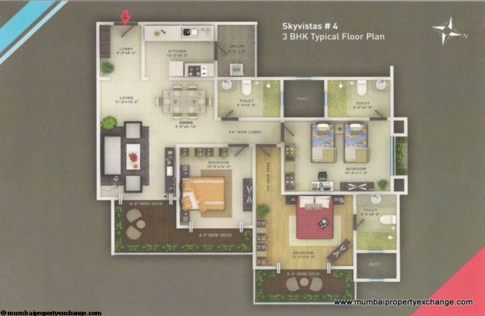 Sky Vistas A wing Floor Plan 3