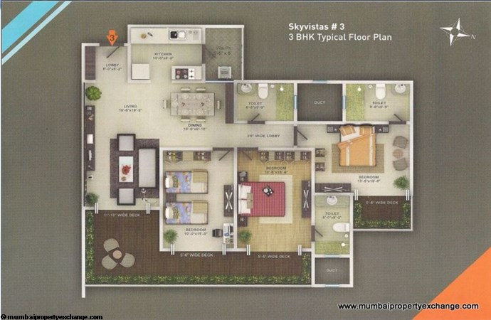 Sky Vistas A wing Floor Plan 4