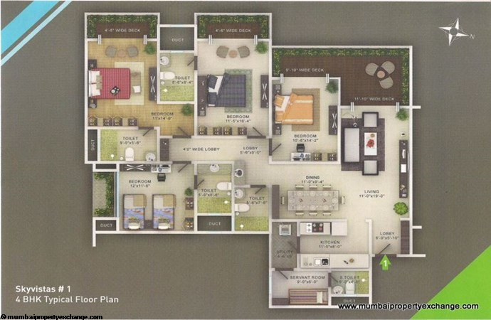 Sky Vistas A wing Floor Plan 6