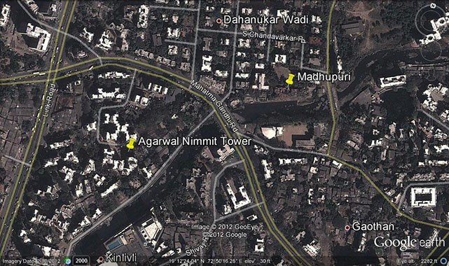 Madhupuri Google Earth