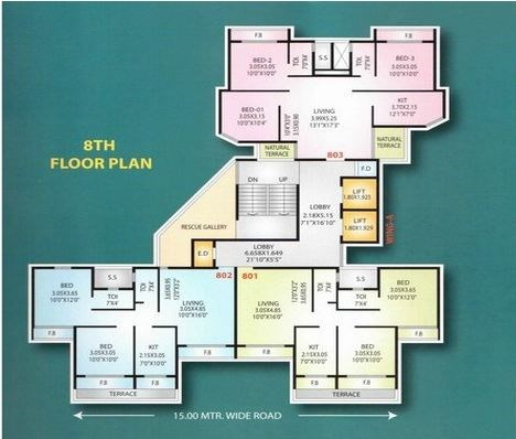 Mahavir Plaza Floor Plan