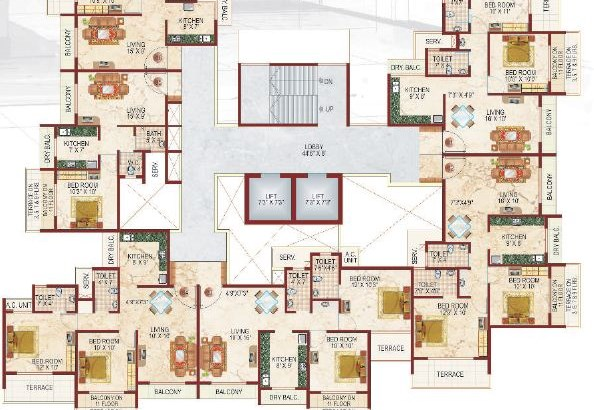 Lakhanis White Castle Floor Plan I