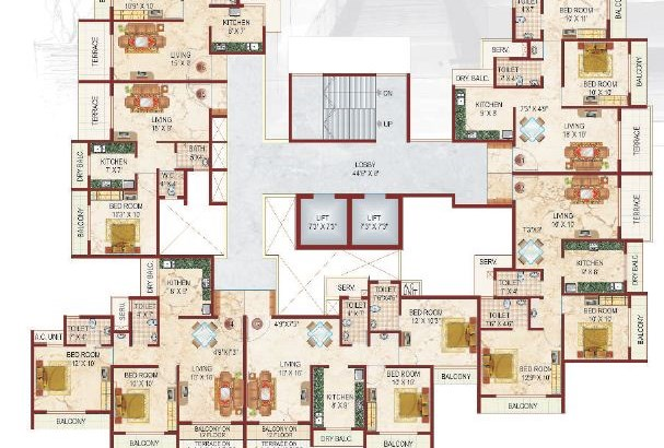 Lakhanis White Castle Floor Plan II