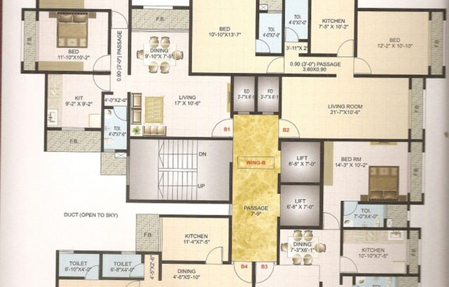 Neelkamal Heights Floor Plan I