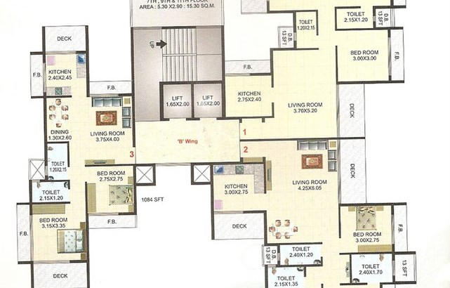 Mahakali Residency Floor Plan 6