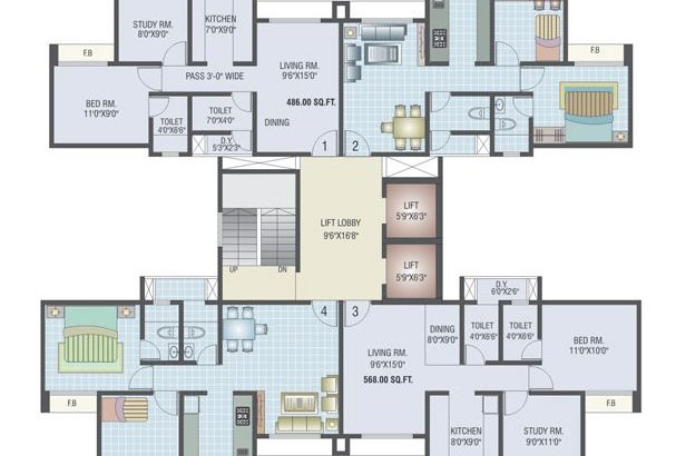 Sagar Residency Floor Plan
