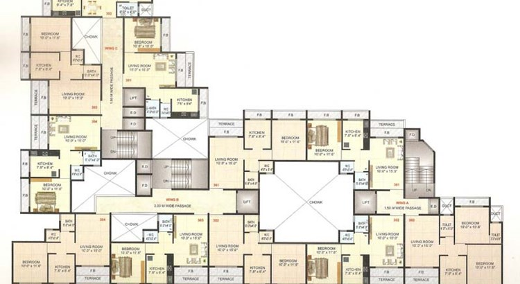 Om Shivam Residency Floor Plan
