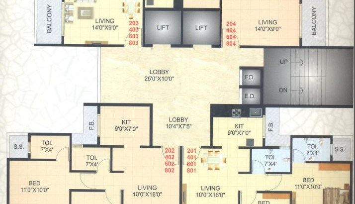 Kailash Tower Floor Plan