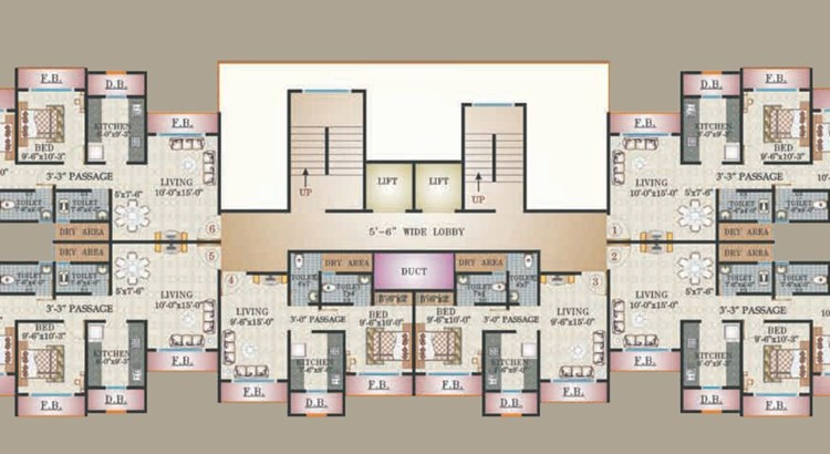Sanghvi Clock Tower Floor Plan