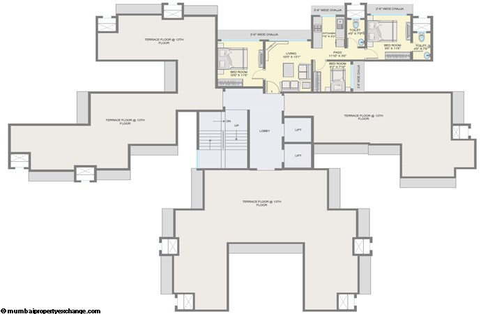Pee Dee Society 13th Floor Plan