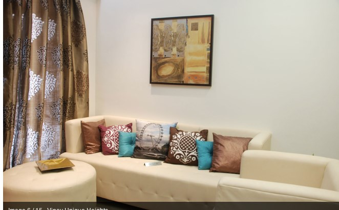 Vinay Unique Heights Sample flat Living room