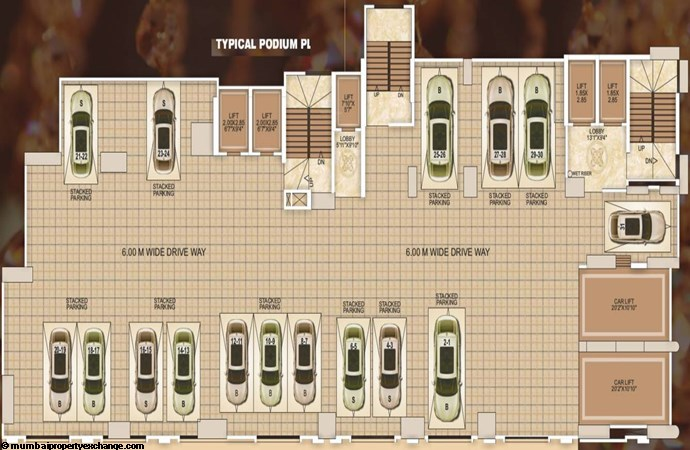 Manthan Embassy Manthan Embassy Typical Podium Plan
