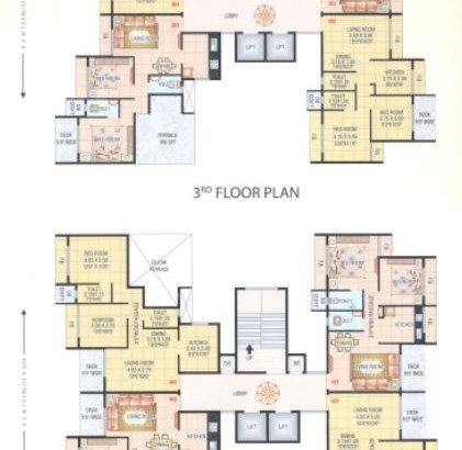 Hari Govind Dham 3 and 4 Floor Plan