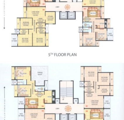 Hari Govind Dham 5 and 6 Floor Plan