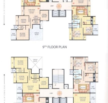Hari Govind Dham 9 and 10 Floor Plan