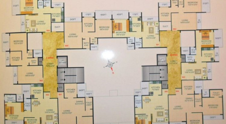 Om Sai Shrushti Floor Plan