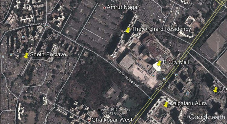 Sheth Enclave Google Earth