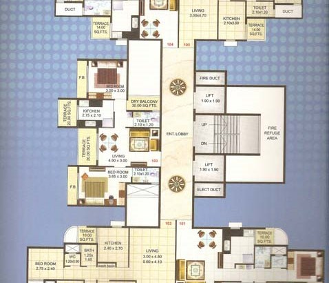 Ma Laxmi Avenue Floor Plan 4
