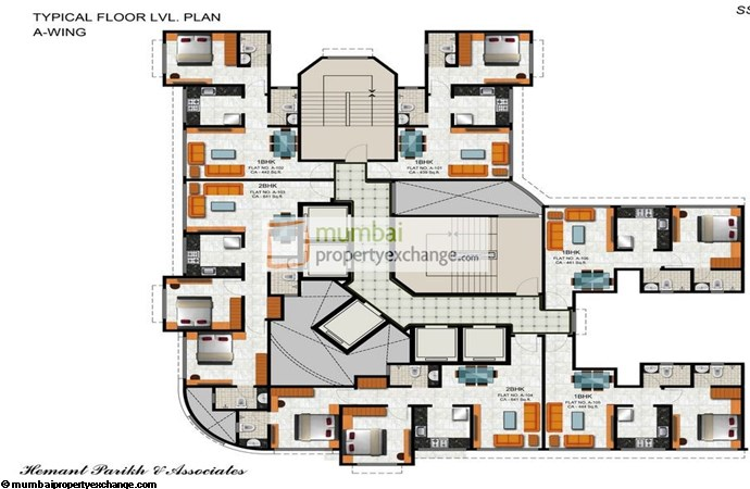 Vicenza Residency Wing A Typical Floor Plan