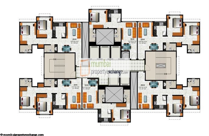 Vicenza Residency Wing B Typical Floor Plan