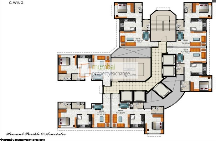 Vicenza Residency Wing C Typical Floor Plan