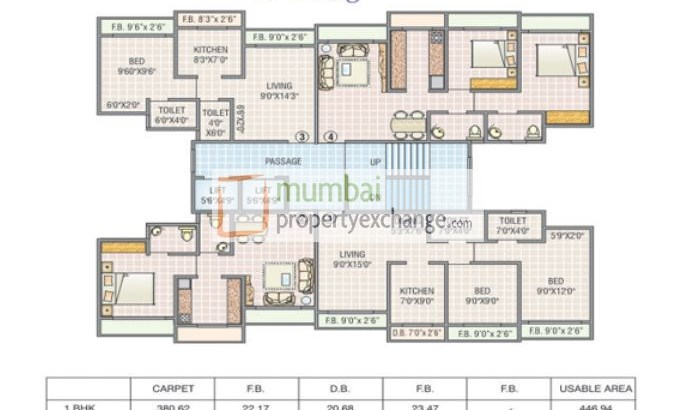 Surya Kriti Tower AND Heights Floor Plan