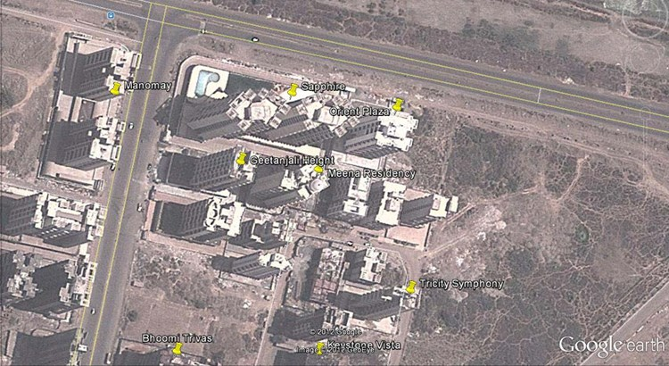 Geetanjali Heights Google Earth