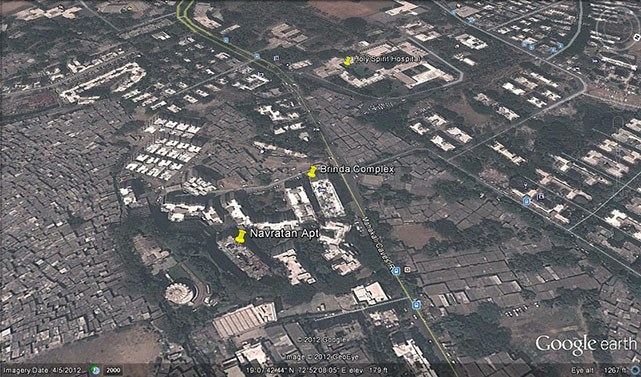 Navratan Apartments Google Earth