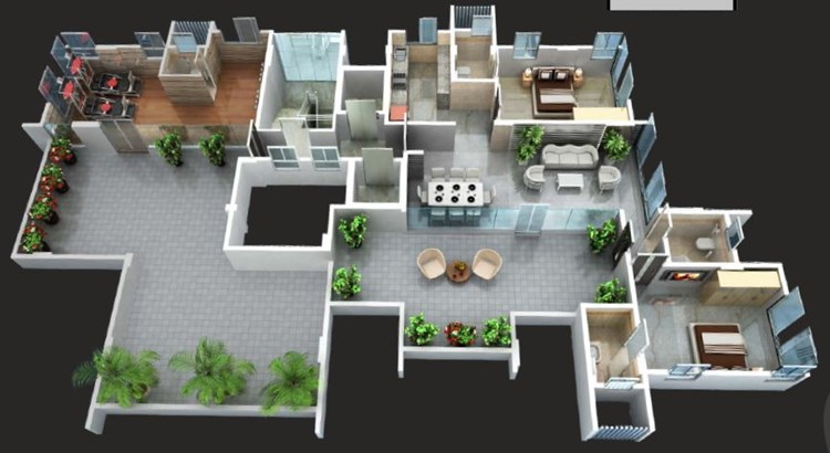 Bharat Apartment Floor Plan