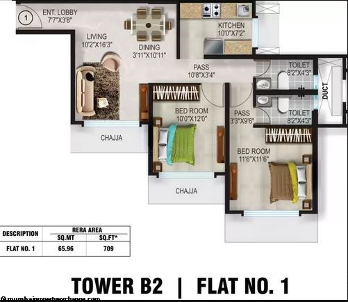 Romell Aether Romell Aether 2BHK