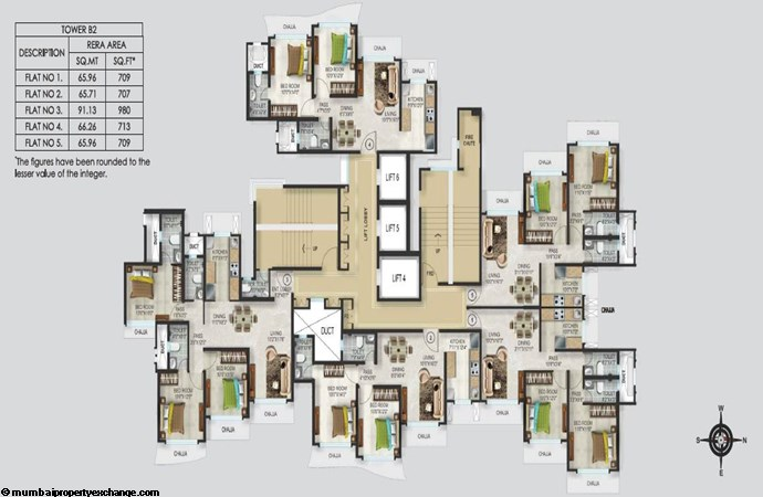 Romell Aether Romell Aether Typical Floor Plan Tower B2