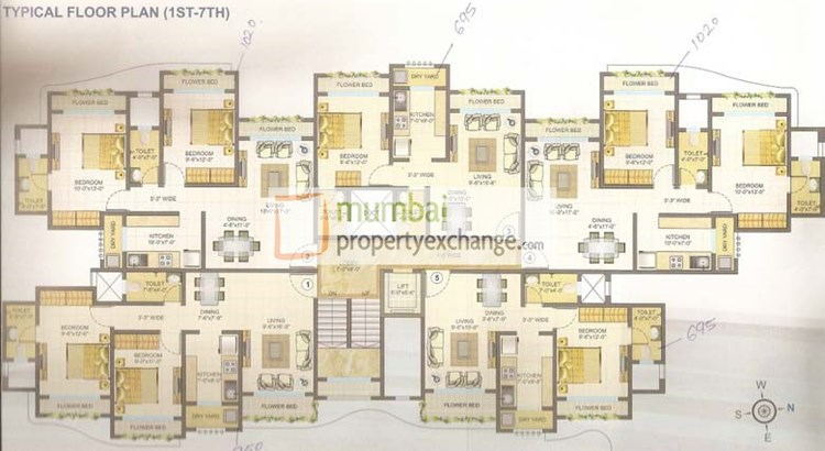 Shreeji Sea View Floor Plan