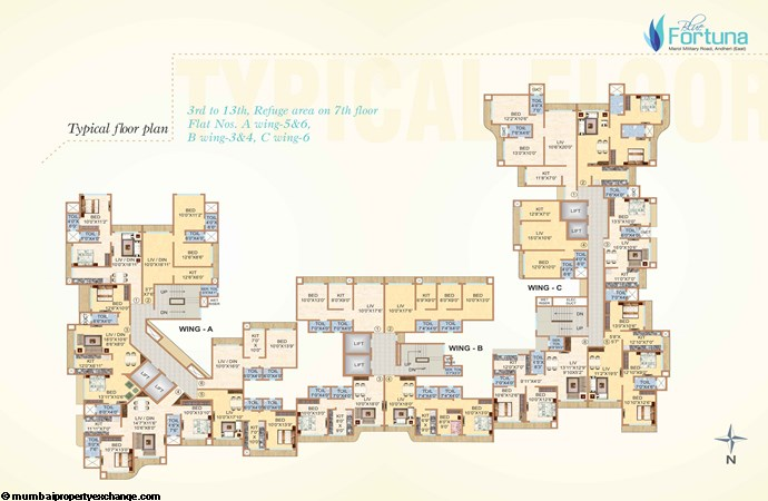 Blue Fortuna  Blue Fortuna Typical floor Plan