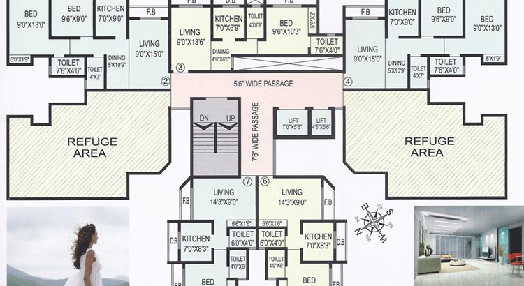 M B Tower Floor Plan