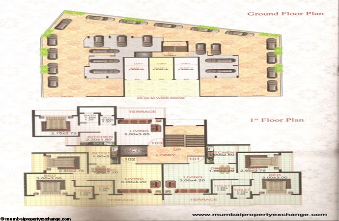 Om Datta Apartment Floor Plan