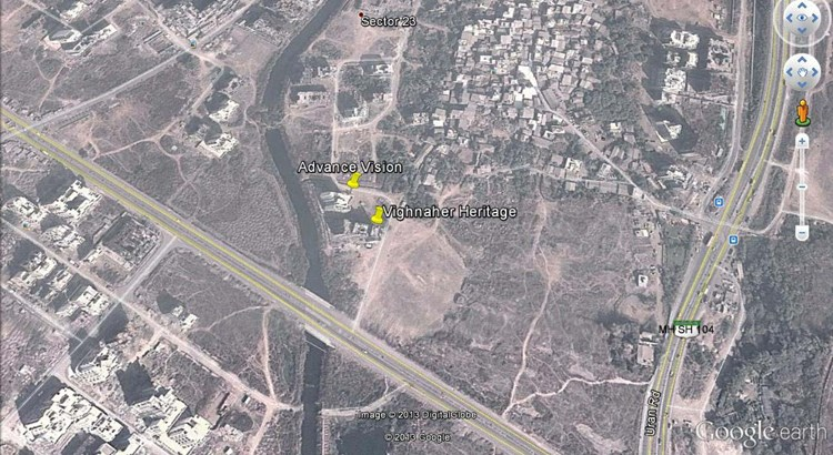 Vighnahar Heritage Google Earth