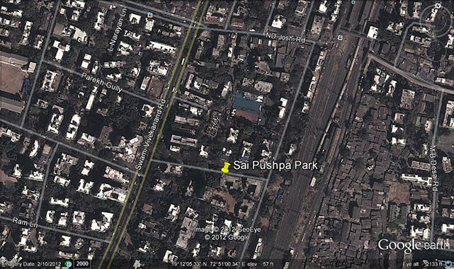 Sai Pushpa Park Google Earth