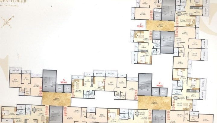 Golden Tower Floor Plan
