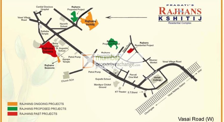 Rajhans Kshitij Location Map