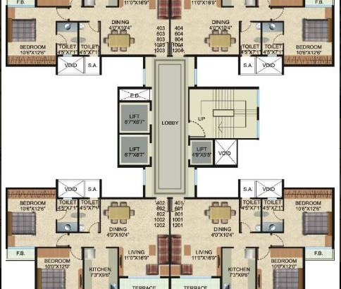 Vishwa Siyona Even Floor Plan